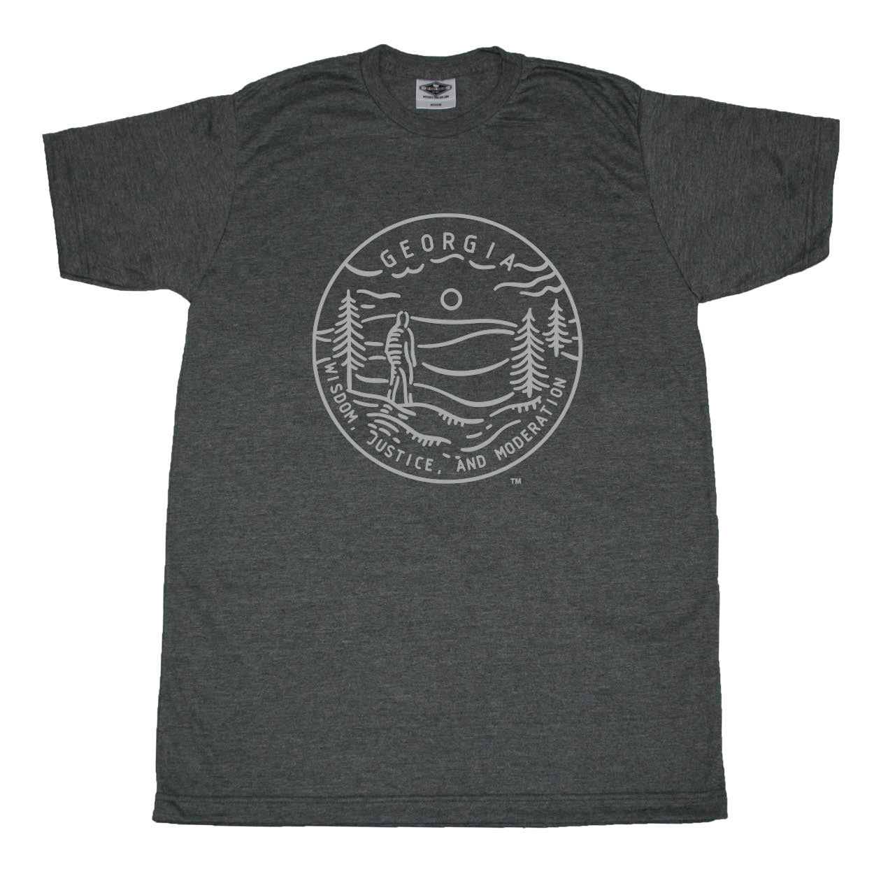 GEORGIA TEE | STATE SEAL | WISDOM, JUSTICE, AND MODERATION