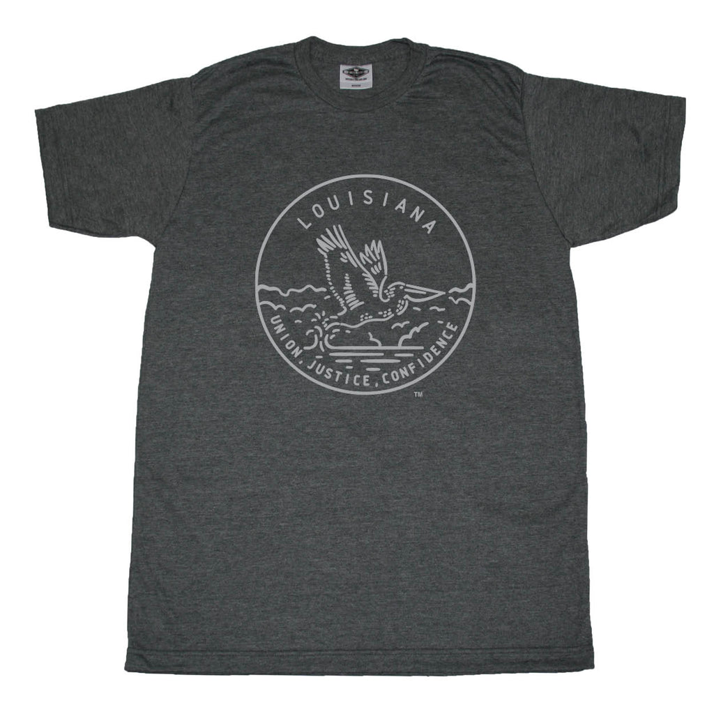 LOUISIANA TEE | STATE SEAL | UNION, JUSTICE, CONFIDENCE