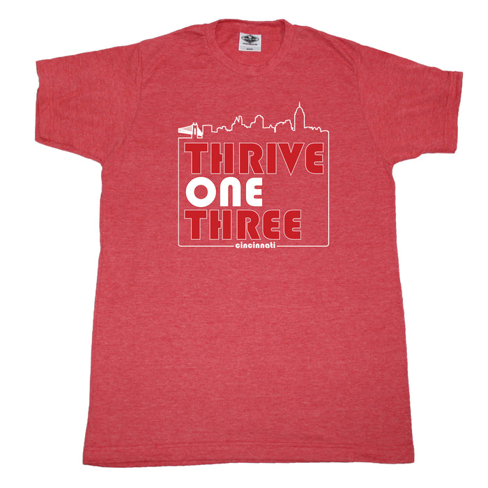 OHIO UNISEX RED TEE | THRIVE ONE THREE | CINCINNATI