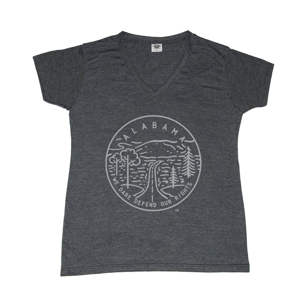 ALABAMA LADIES' V-NECK | STATE SEAL |  WE DARE DEFEND OUR RIGHTS