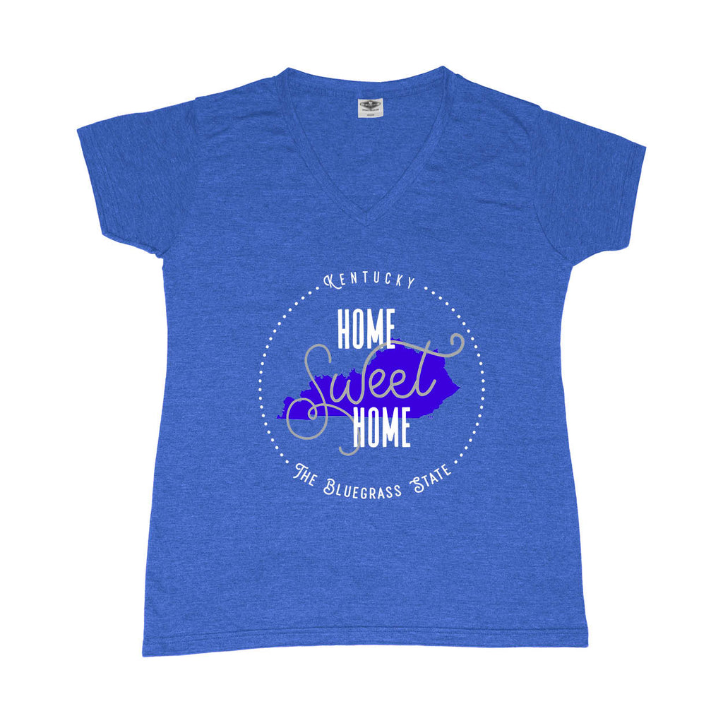 KENTUCKY LADIES BLUE V-NECK | HOME SWEET HOME | BLUE