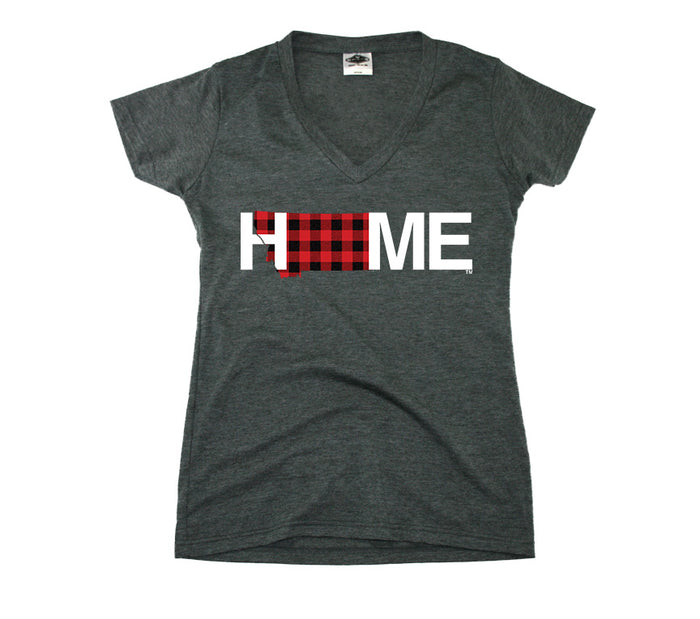 MONTANA LADIES V-NECK  TEE | HOME | PLAID