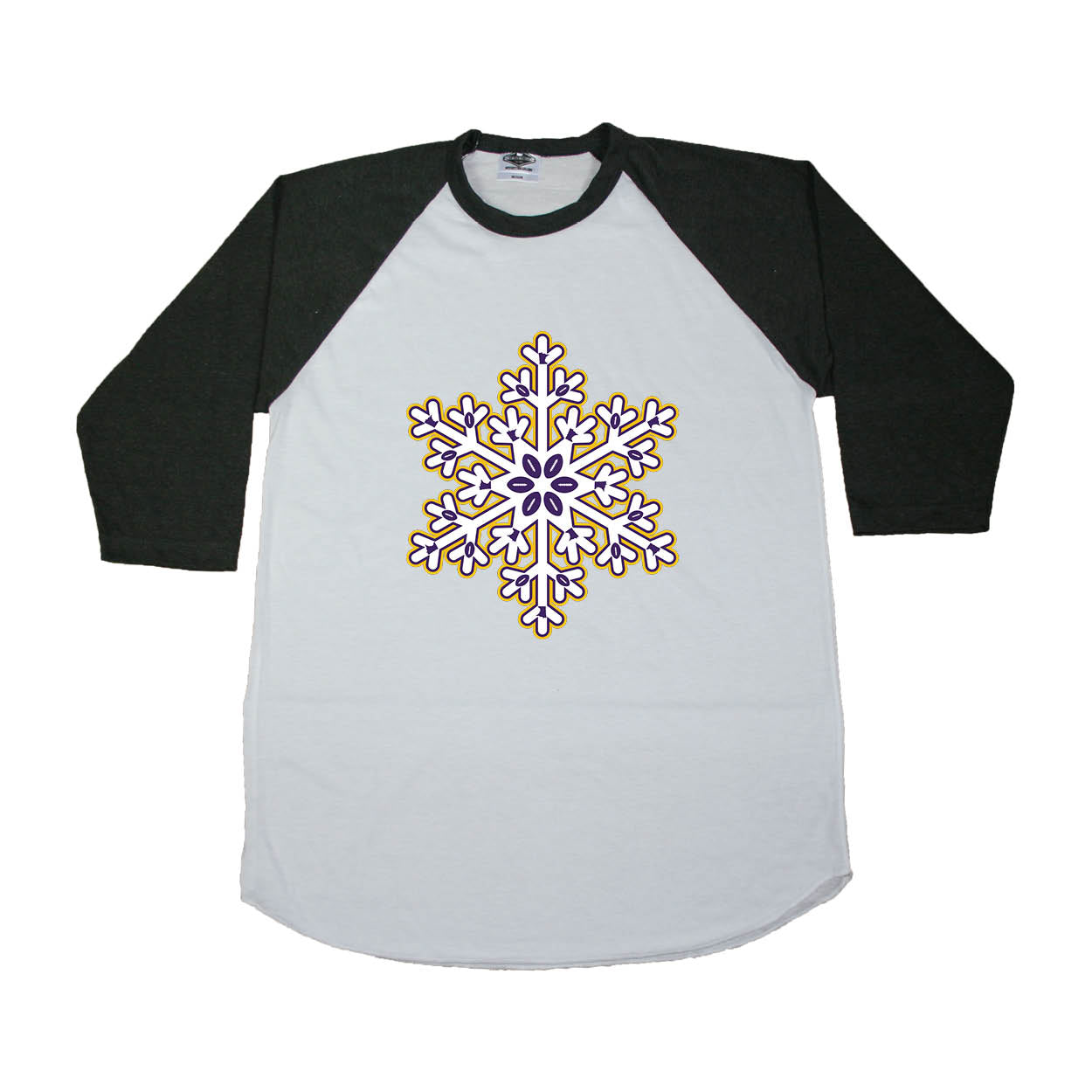 MINNESOTA 3/4 SLEEVE | SNOWFLAKE | PURPLE/GOLD