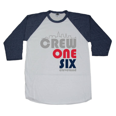 OHIO NAVY 3/4 SLEEVE | CREW ONE SIX | CLEVELAND