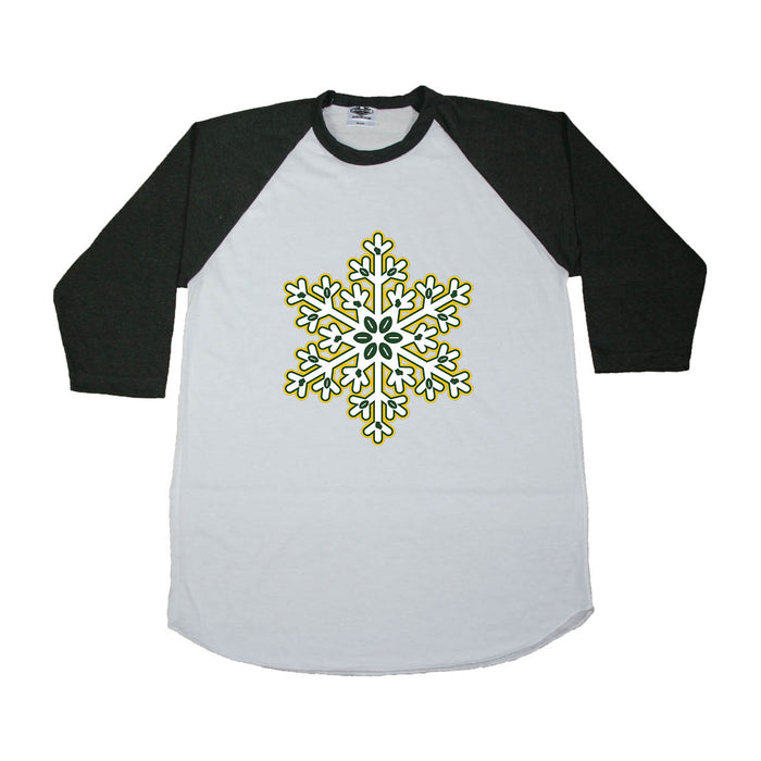 WISCONSIN 3/4 SLEEVE | SNOWFLAKE | GREEN/GOLD