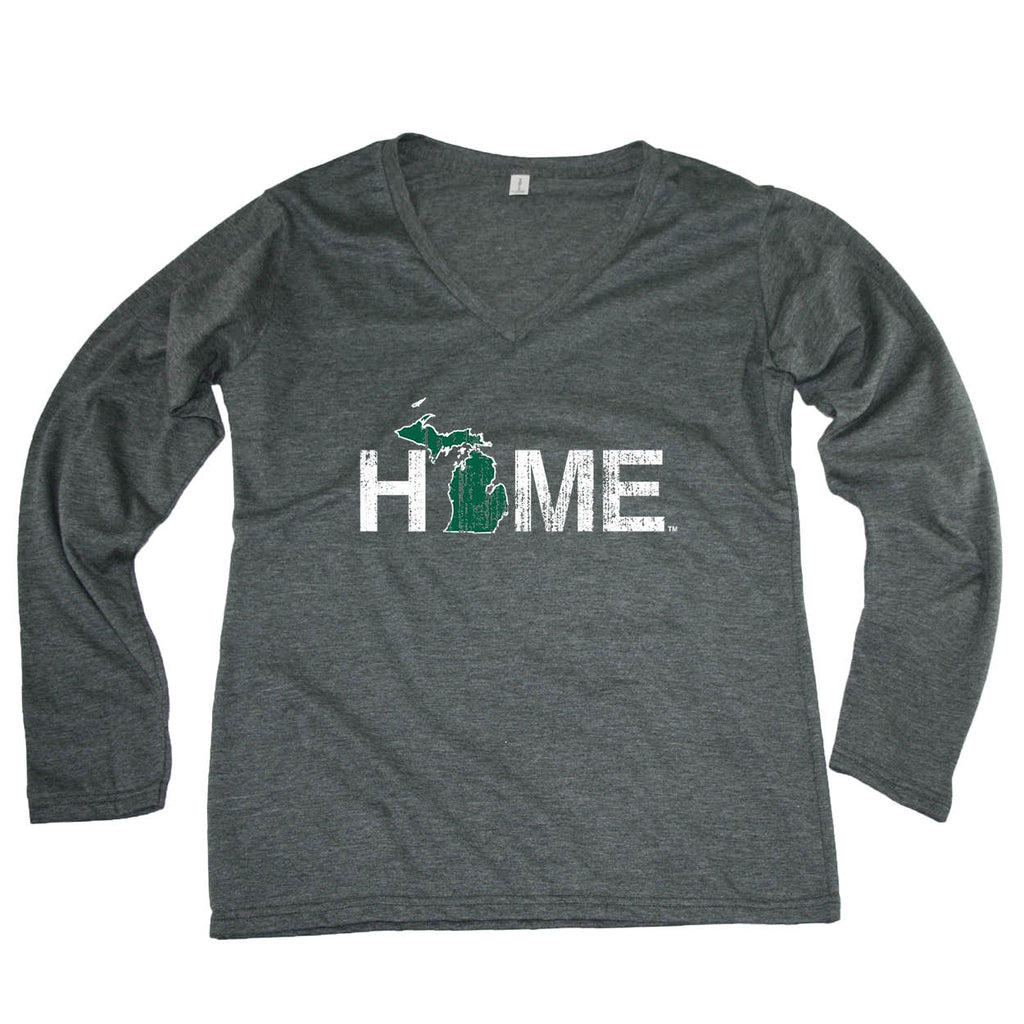 MICHIGAN LADIES' LONGSLEEVE V-NECK | HOME | GREEN