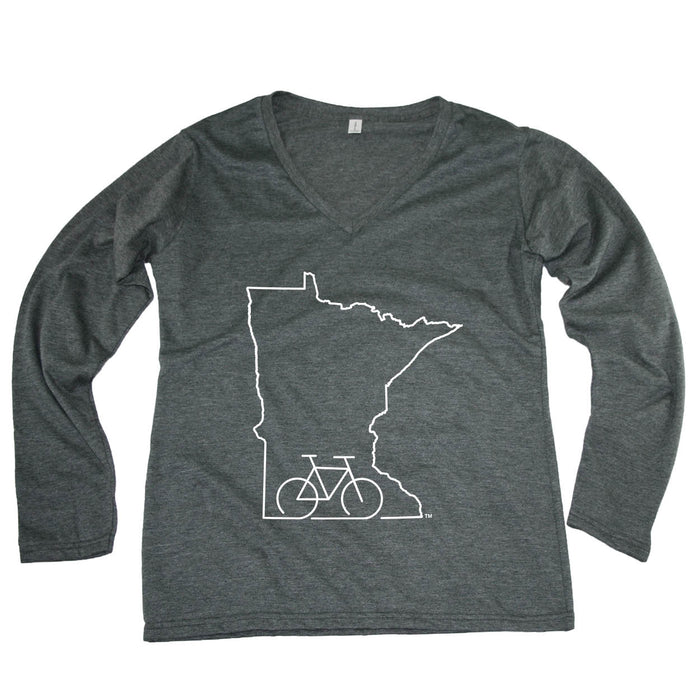 MINNESOTA LADIES' LONGSLEEVE V-NECK | OUTLINE | BIKE