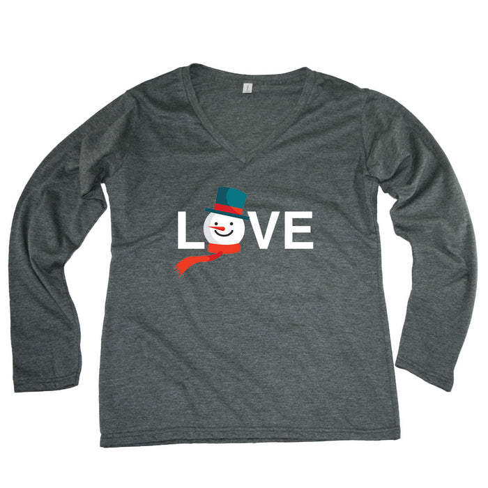 ALL STATES LADIES' LONG SLEEVE TEE | LOVE | SNOWMAN
