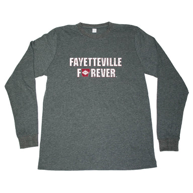 ARKANSAS LONG SLEEVE TEE | FAYETTEVILLE FOREVER | FLAG