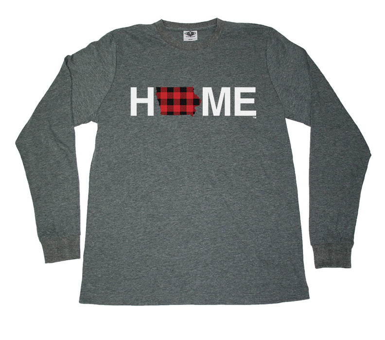 IOWA LONG SLEEVE TEE | HOME | PLAID