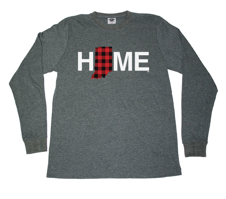 INDIANA LONG SLEEVE TEE | HOME | PLAID