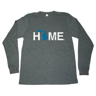 MICHIGAN LONG SLEEVE TEE | HOME | BLUE - My State Threads