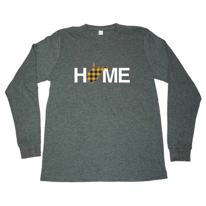 WEST VIRGINIA LONG SLEEVE TEE | HOME | PLAID NAVY/GOLD