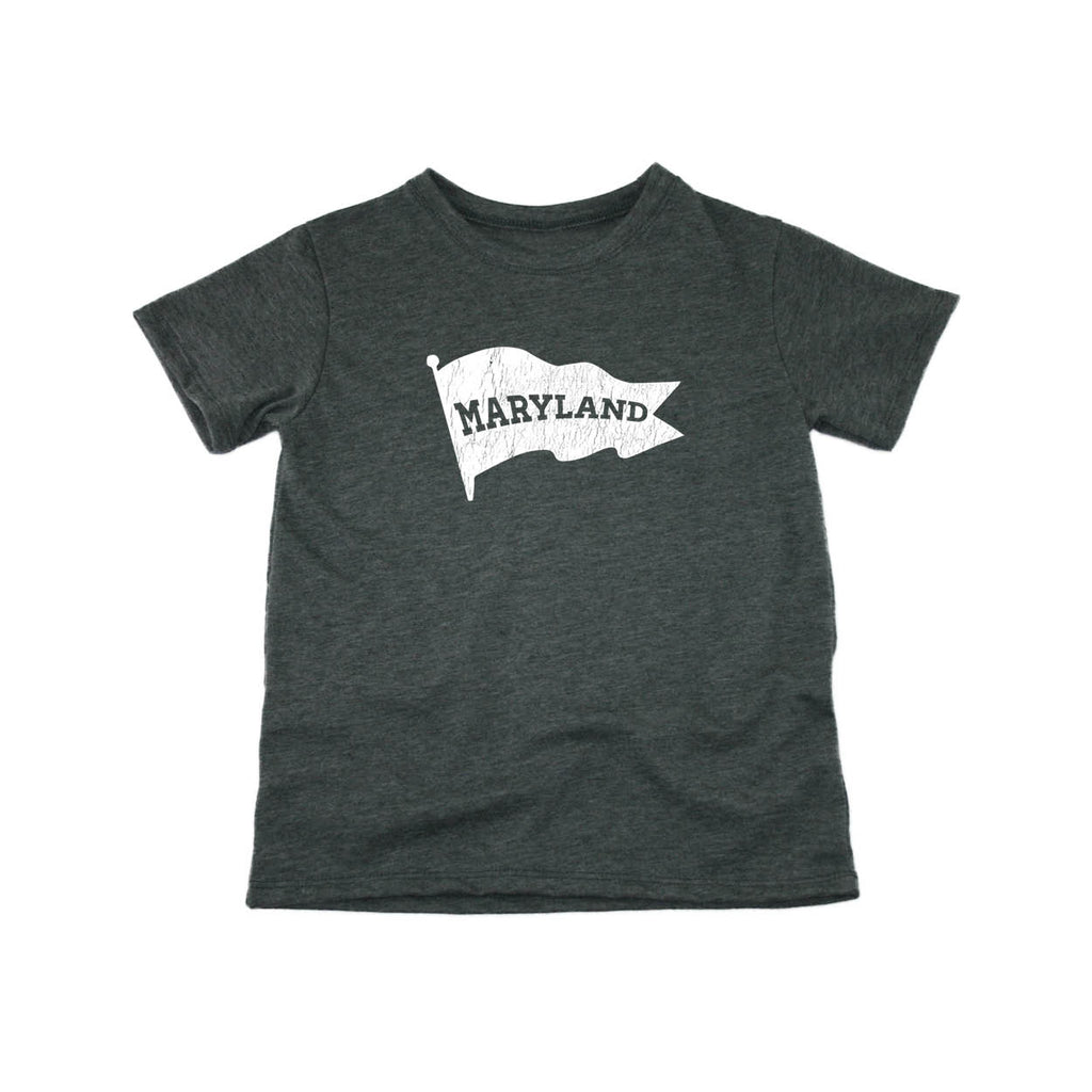 MARYLAND KIDS TEE | STATE | PENNANT