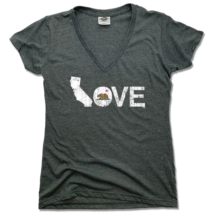 CALIFORNIA LADIES V-NECK - LOVE | FLAG