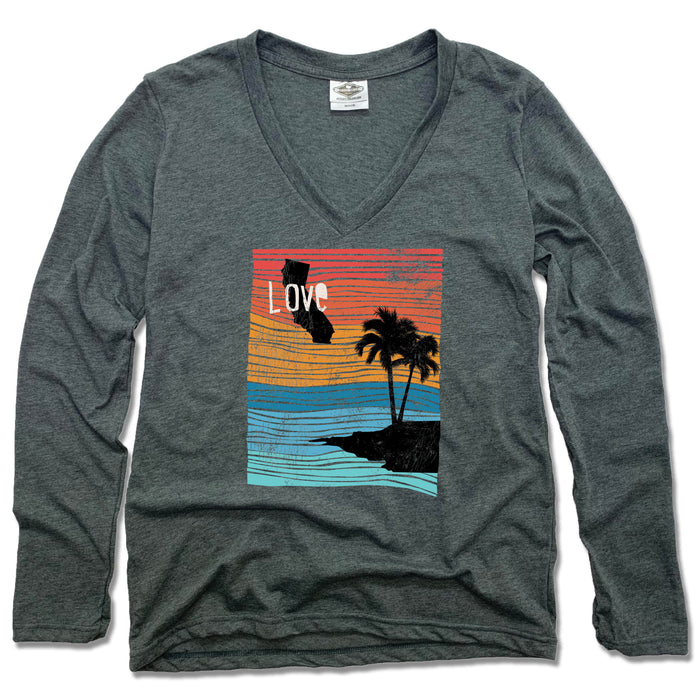 CALIFORNIA | LADIES LONG SLEEVE | LOVE LINE ART