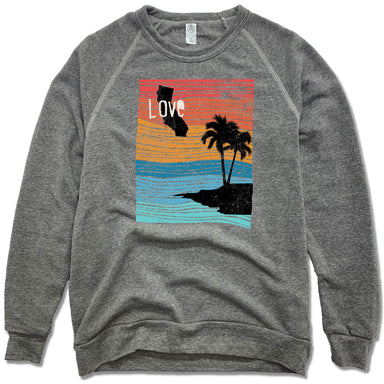 CALIFORNIA | FLEECE SWEATSHIRT | LOVE LINE ART