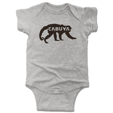 CABUYA LODGE | GRAY ONESIE | BLACK LOGO