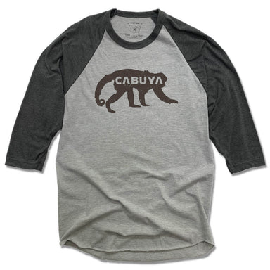 CABUYA LODGE | GRAY 3/4 SLEEVE | BLACK LOGO