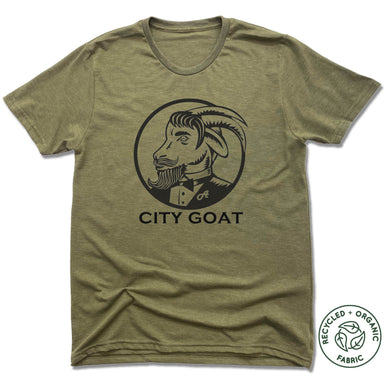 CITY GOAT | UNISEX OLIVE Recycled Tri-Blend | LOGO