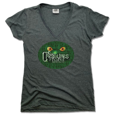 CREATURES OF HABIT | LADIES V-NECK | LOGO