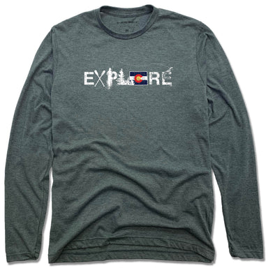 COLORADO LONG SLEEVE TEE | EXPLORE | FLAG - My State Threads