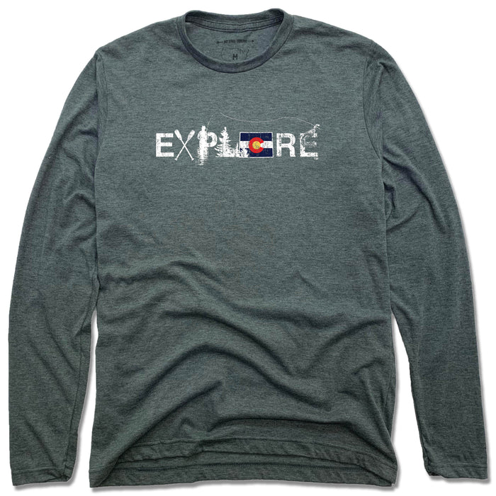 COLORADO LONG SLEEVE TEE | EXPLORE | FLAG