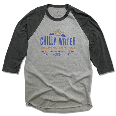 CHILLY WATER BREWING | GRAY 3/4 SLEEVE | CWB COLOR LOGO