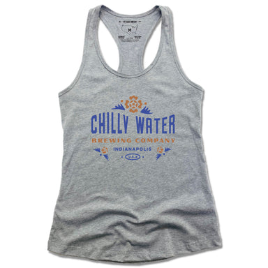 CHILLY WATER BREWING | LADIES GRAY TANK | CWB COLOR LOGO