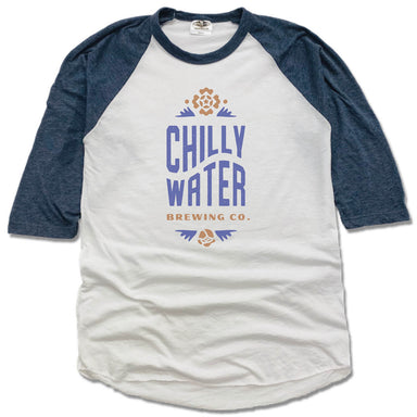 CHILLY WATER BREWING | NAVY 3/4 SLEEVE | CWB VERTICALSPOT COLOR LOGO