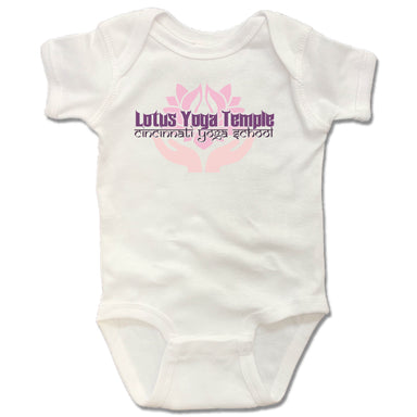 LOTUS YOGA TEMPLE | WHITE ONESIE | LOGO