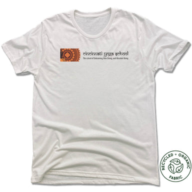 CINCINNATI YOGA SCHOOL | UNISEX WHITE Recycled Tri-Blend | LOGO