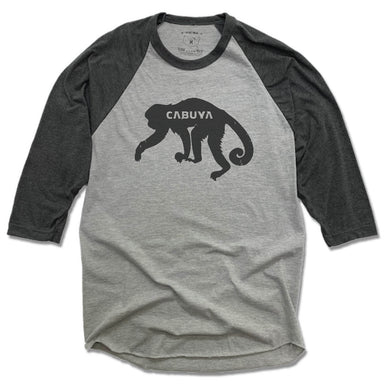 CABUYA LODGE | GRAY 3/4 SLEEVE | BLACK MONKEY
