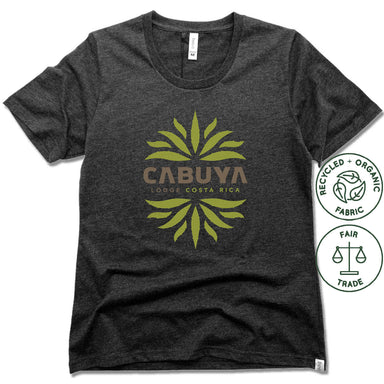 CABUYA LODGE | FAIRTRADE FREESET BLACK LADIES TEE | CABUYA LOGO