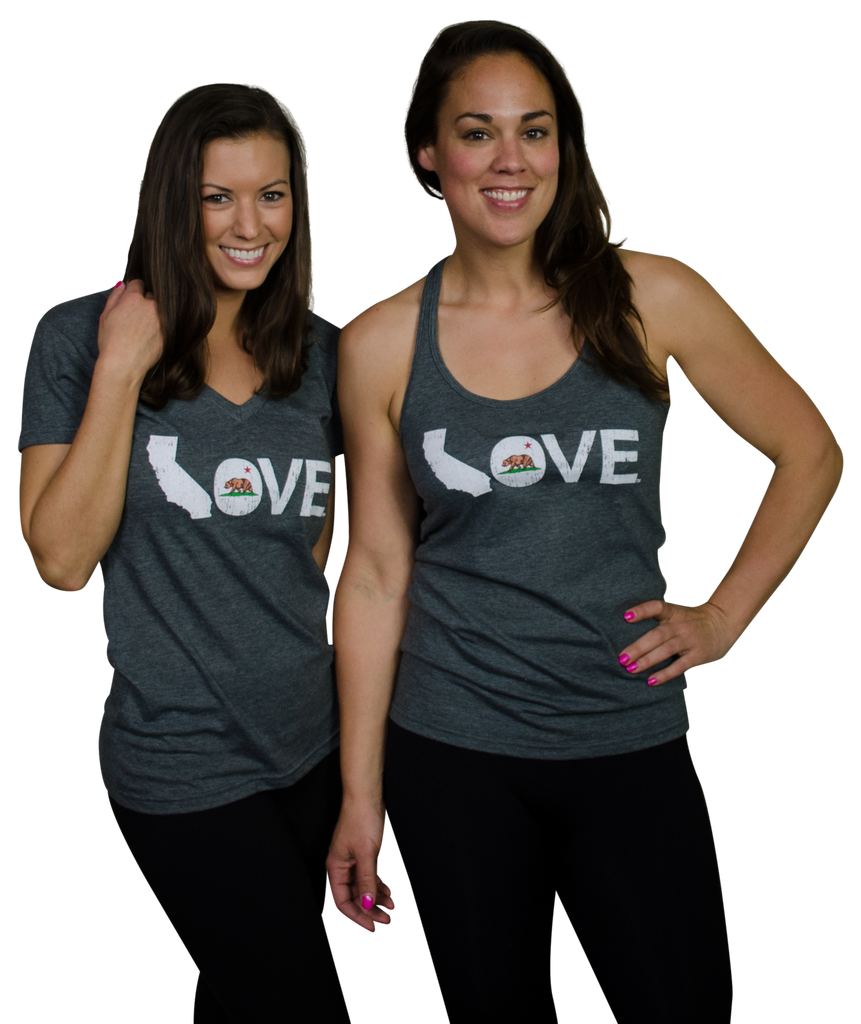 Ladies' California Tank | LOVE | White