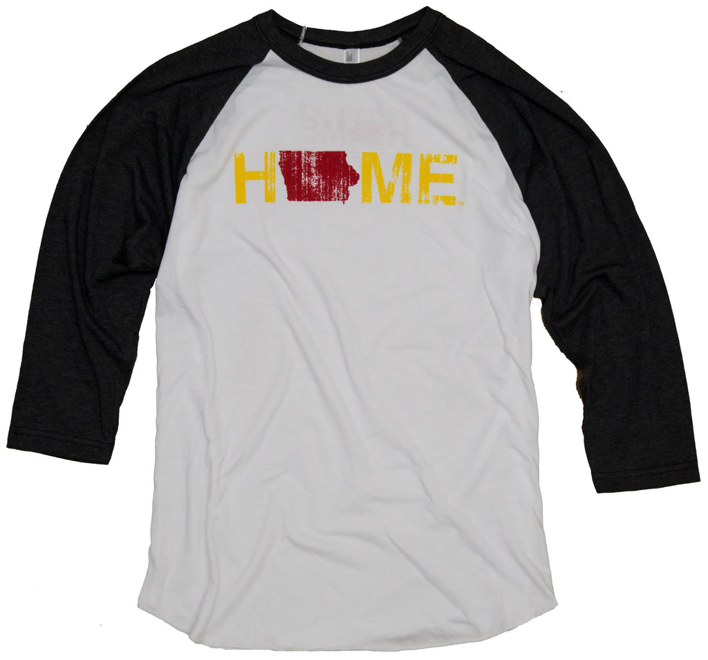 Iowa 3/4 Sleeve | Cardinal/Gold