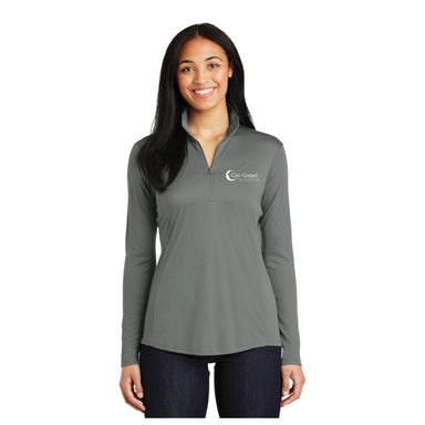 City Gospel Mission Ladies' Quarter Zip Pullover - Left Chest Print