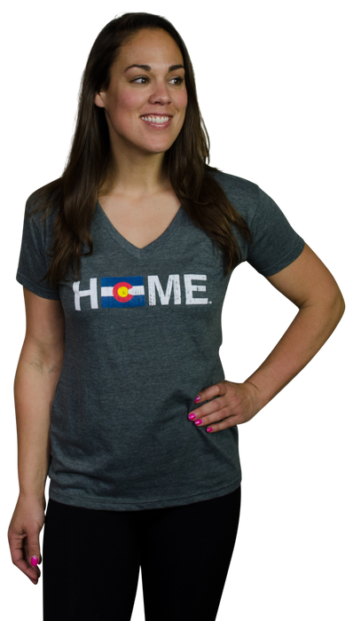Ladies' Colorado V-Neck | Flag | Red/Blue/Gold