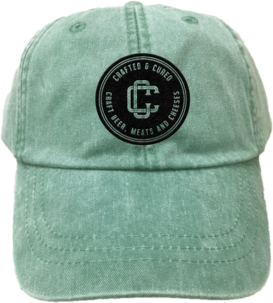 CRAFTED & CURED | EMBROIDERED FRST GREEN HAT | LOGO