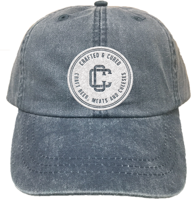 CRAFTED & CURED | EMBROIDERED NAVY HAT | LOGO