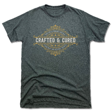 CRAFTED & CURED | UNISEX TEE | CREST LOGO