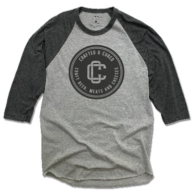 CRAFTED & CURED | 3/4 SLEEVE | BLACK LOGO
