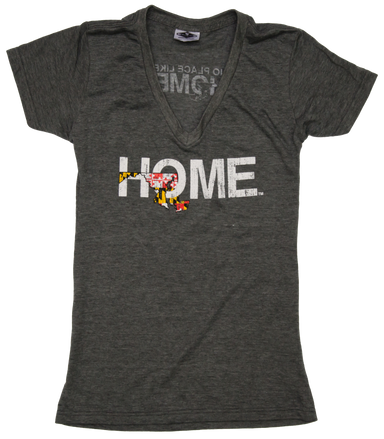 MARYLAND LADIES' V-NECK | HOME | FLAG - My State Threads