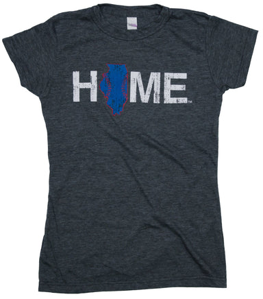 Ladies' Illinois Tee | Chicago Stitches | Blue/Red