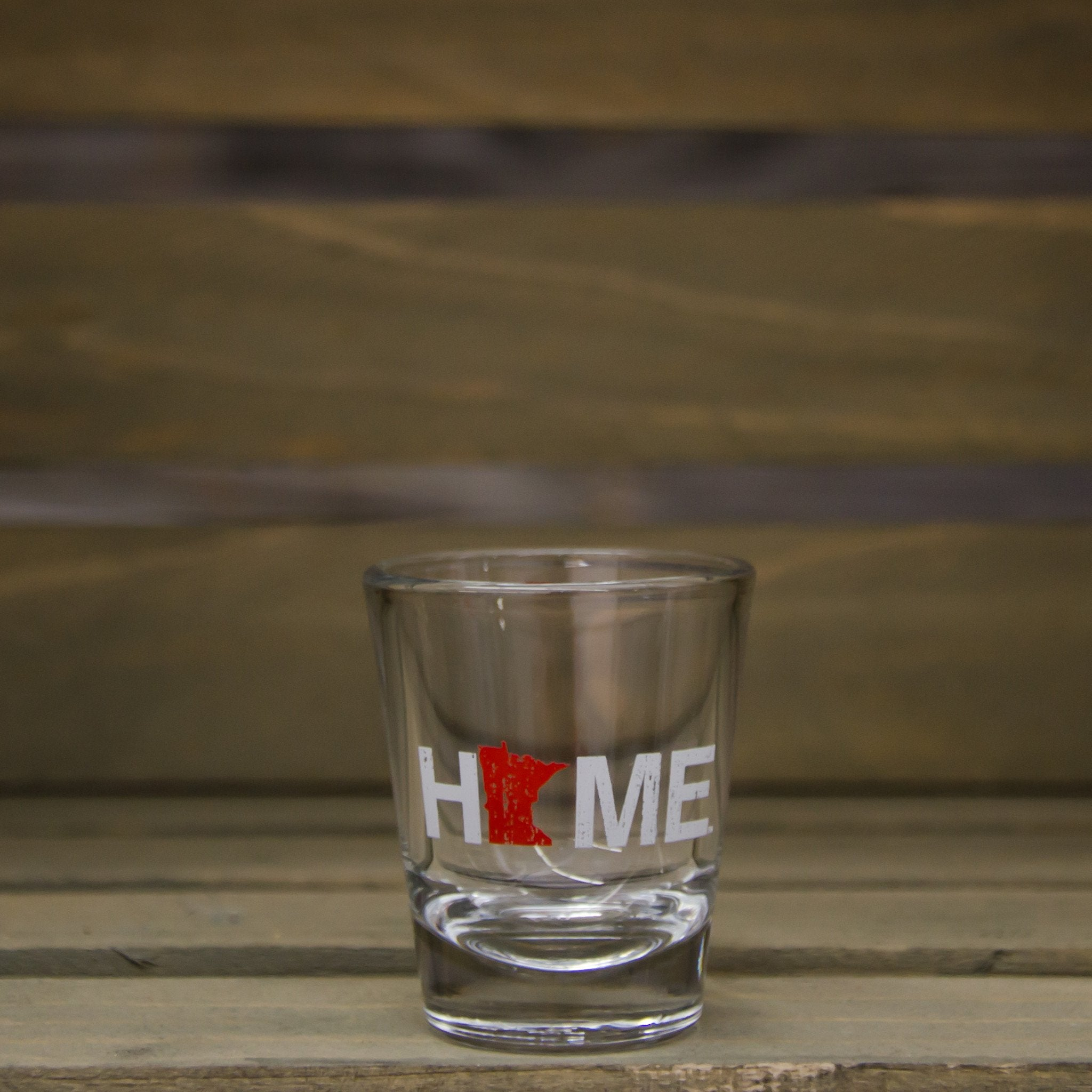 Minnesota Shot Glass | HOME | Red