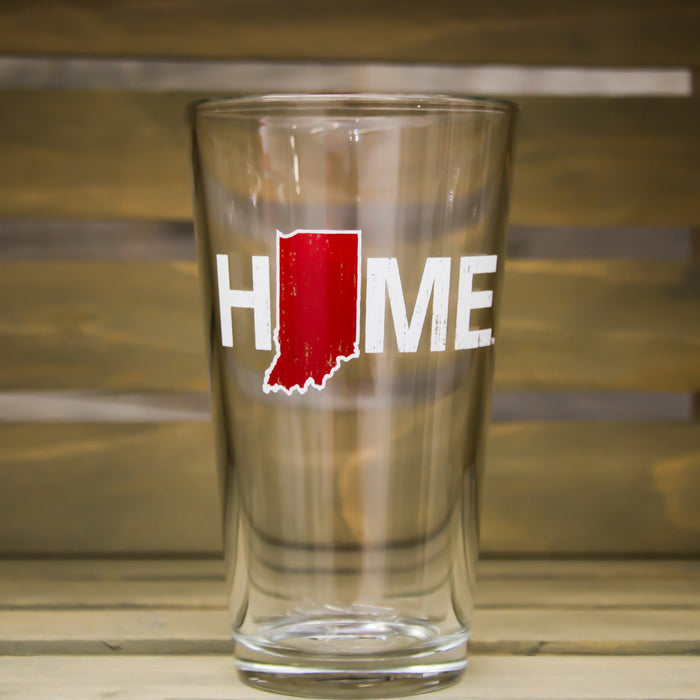 Indiana Pint Glass | HOME | Red