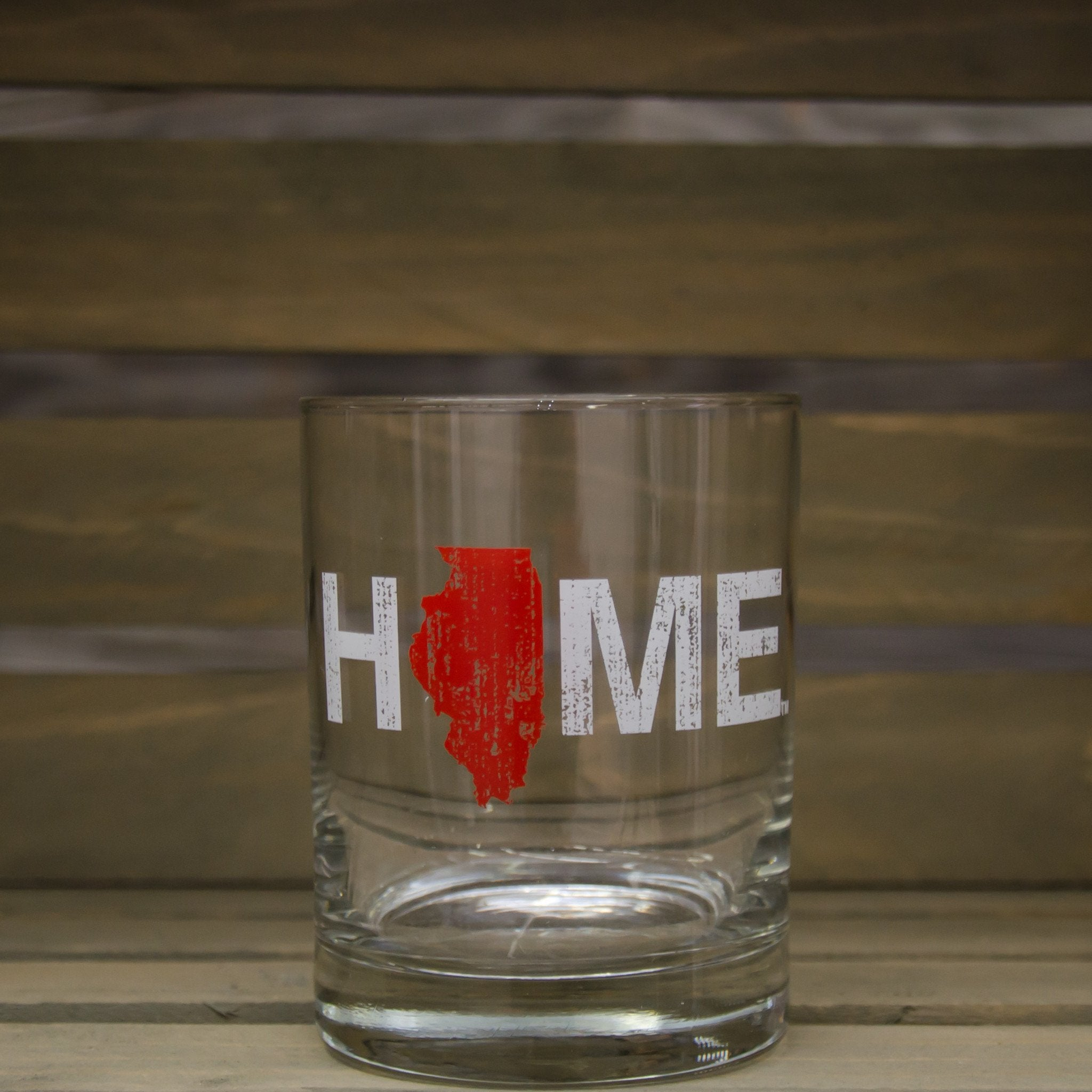 Illinois Rocks Glass | HOME | Red