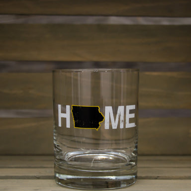 Iowa Rocks Glass | HOME | Black/Gold