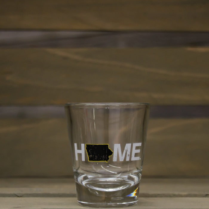 Iowa Shot Glass | HOME | Black/Gold