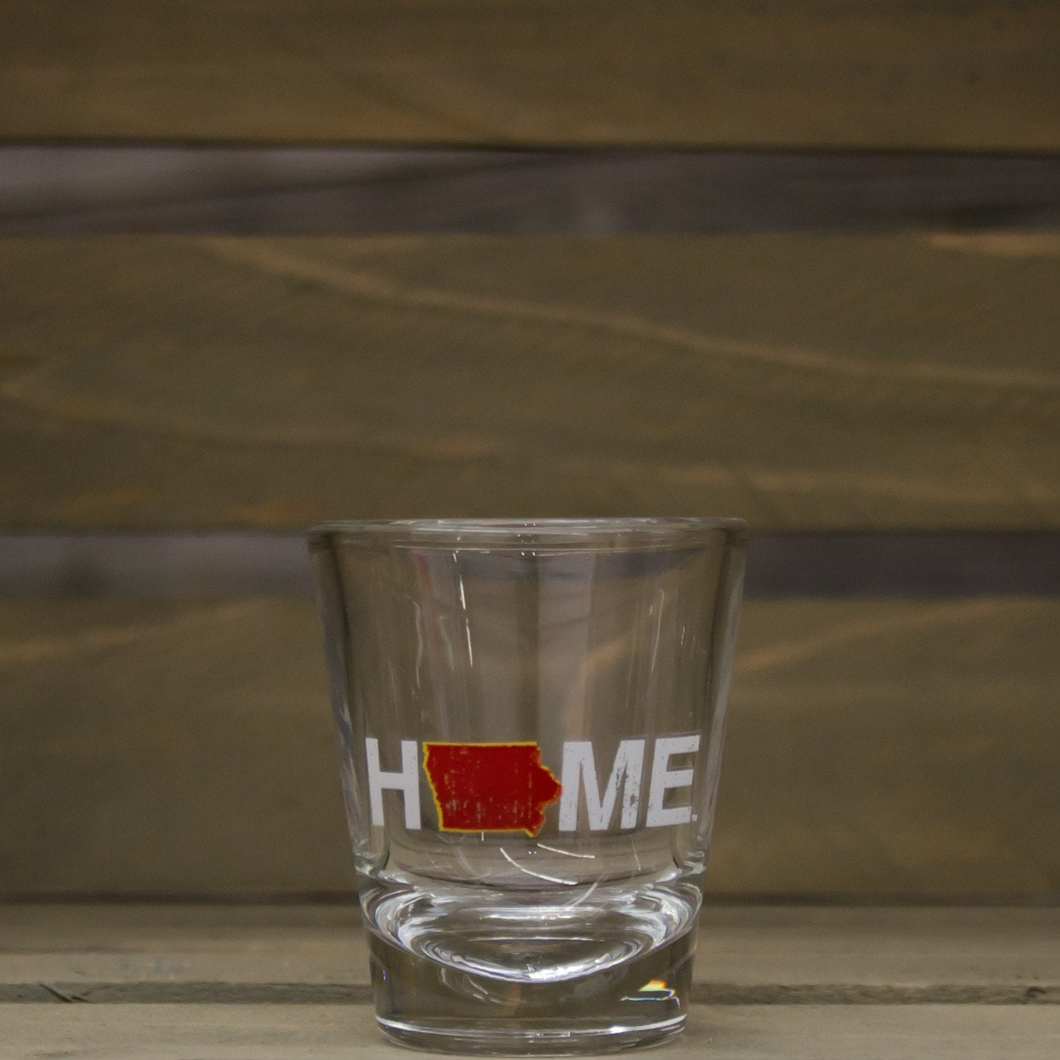 Iowa Shot Glass | HOME | Cardinal/Gold